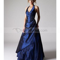 A-line Halter Beading Sleeveless Floor-length Taffeta Prom Dresses / Evening Dressï¼?SZ019409ï¼?