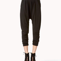 Bejeweled High-Waisted Harem Pants