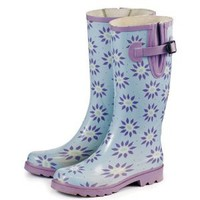 Laura Ashley 3A074513 Elegance Wellington Waterproof Boot, Roundswood Pale Lavender, Size 6.5 (Discontinued by Manufacturer)