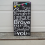 Be... 12x24 Wood Sign