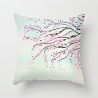 Watercolour *** Cherry Tree  *** Throw Pillow by M✿nika  Strigel for your bedroom, bed, apartment!