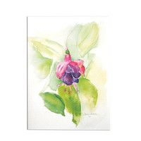 Fuschia Floral Mothers Day Card