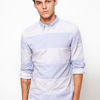 ASOS Stripe Oxford Shirt With Button Down collar at asos.com