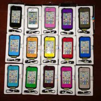 Cool Water-Proof Life Cases For Iphone 4 4s Available In 15 Colors SJK13