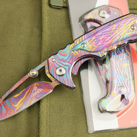 New 6.49-inch Colorful Tactical Folding knives Pocket Knife