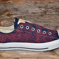 Paisley Converse All Stars - Adult size