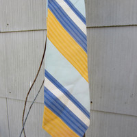 70s Spring Colored Striped Tie by Superba // Vintage Tie