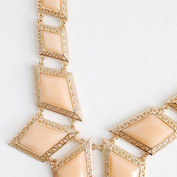 Sky Diamonds Peach Statement Necklace