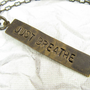 Just Breathe Necklace, Hand Stamped Jewelry, Inspirational Quote Necklace