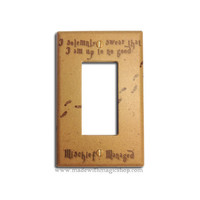 Wizard's Map - Wizard Inspired Rocker Style Switch Plate