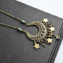 Moon and Stars Gypsy Necklace Dangle Stars Moon by LOVEnLAVISH