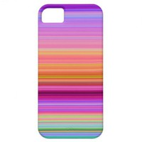iPhone 5 Pink Purple Blue Stripes iPhone 5 Cases from Zazzle.com