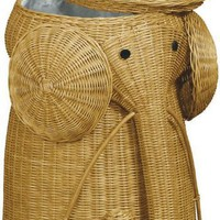 Rattan Elephant Hamper, 22&quot;Hx14&quot;D, HONEY