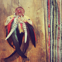 The Quiet Wolf Dream Catcher Single Feather by Cloud9Jewels