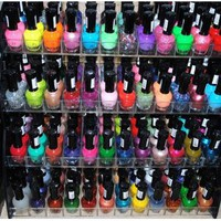 48 Piece Rainbow Colors Glitter Nail Polish Lacquer Set + 3 Scented Nail Polish Remover