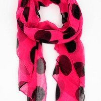 Spotty Scarf in Hot Pink :: tobi