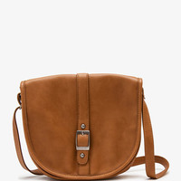 Buckled Faux Leather Crossbody | FOREVER 21 - 1047134528