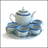 Rice Pattern Tea Set | Oriental Cookware | Shop Online