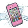 Amazon.com: Leang Waterproof Shockproof and Dirtproof Case for iPhone 4 4S Life Dirt Proof Case - Pink + Cleaning Cloth: Cell Phones &amp; Accessories