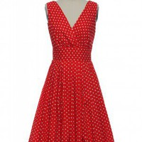 A Penny For Your Dots Dress in Red