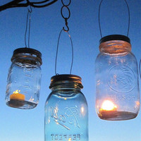 Fly Away Lantern Lids 6 DIY Hanging Mason Jar Lanterns, As Seen on Fly Away Book, Outdoor Candle Lights,  Mason Jar Lids with Handles only