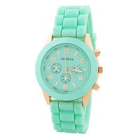 SakuraShop  Candy Color Silicone Sports Watch