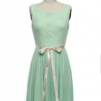Flowering in Love Dress in Mint