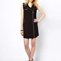Vila Biker Dress at asos.com