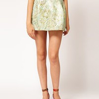 ASOS Dome Skirt in Jacquard at asos.com