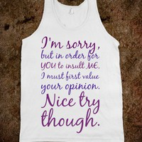 Insult - Trendy Designs by Sofia - Skreened T-shirts, Organic Shirts, Hoodies, Kids Tees, Baby One-Pieces and Tote Bags