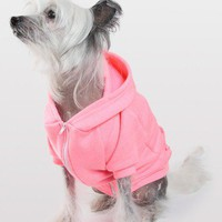 American Apparel - Neon Heather Pink Flex Fleece Dog Zip Hoodie