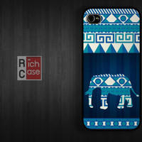 Aztec Blue Case iPhone 4 Case iPhone 4s Case iPhone 5 Case idea case elephant  animal abstract