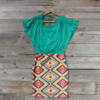 Geometrics Dress, Sweet Women&#x27;s Country Clothing