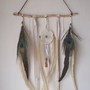 leather and lace... a bohemian dream catcher // wall hanging, boho, dreamcatcher