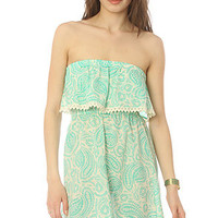 ONeill The Karma Ruffle Crochet Tube Dress in Mermaid Green : Karmaloop.com - Global Concrete Culture