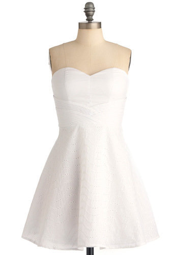 You're the Fun Dress in White | ModCloth.com