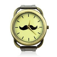 Fashion Mr. Mustache Metal Watch