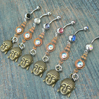 PICK ONE buddah belly ring  karma  in belly dancer indie gypsy hippie morrocan boho and hipster style