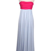 All About You Maxi Two Color Fuschia/Grey | Bellum&Rogue