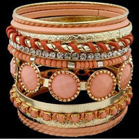 Stacked Bracelet - Peach | Bellum&Rogue