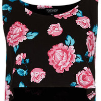 Rose Cropped Tank Top - New In This Week  - New In