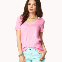 Mineral Wash V-Neck Tee