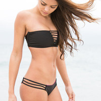 The Girl and The Water - Mary Grace Swim - Luna Top Mexican Blanket/Black (PRE-ORDER) - $88