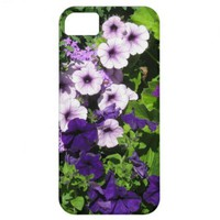 Purple Petunias iPhone 5 case from Zazzle.com