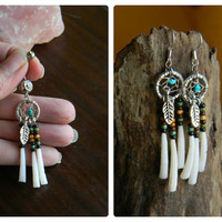 Dream Catcher Jewelry Set with Nacozari Turquoise in The Native Inspired Boho Hippi Hipster Style