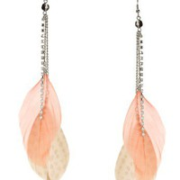 Lipsy Double Feather Drop Earrings