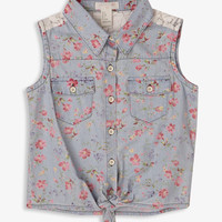 Floral Chambray Shirt | FOREVER21 girls - 2041463777