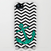 Mint Leopard Anchor iPhone & iPod Case by M Studio