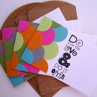 Note Cards, Scallop Stationery Set of 4, Mini Cards, Gift Tags