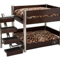 LazyBonezz Metropolitan 4-Step Pet Bunk Bed, Espresso